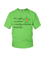 Coffee-Sweatpants-Breathing Treatment kind of Day Youth T-Shirt thumbnail