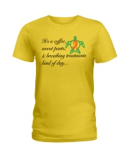 Coffee-Sweatpants-Breathing Treatment kind of Day Ladies T-Shirt thumbnail