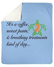 "Coffee-Sweatpants-Breathing Treatment kind of Day Sherpa Fleece Blanket - 50"" x 60"" thumbnail"