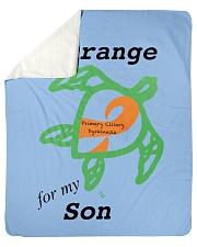 """I wear Orange for my Son b Sherpa Fleece Blanket - 50"""" x 60"""" thumbnail"""
