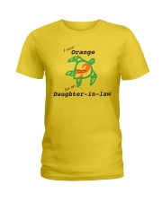I wear Orange for my Daughter-in-law b Ladies T-Shirt thumbnail