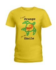 I wear Orange for my Uncle b Ladies T-Shirt thumbnail