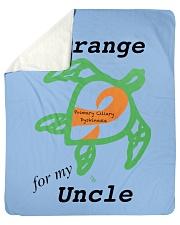 """I wear Orange for my Uncle b Sherpa Fleece Blanket - 50"""" x 60"""" thumbnail"""