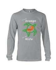 I wear Orange for my Wife Long Sleeve Tee thumbnail
