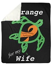 """I wear Orange for my Wife Sherpa Fleece Blanket - 50"""" x 60"""" thumbnail"""