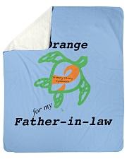 """I wear Orange for my Father-in-law b Sherpa Fleece Blanket - 50"""" x 60"""" thumbnail"""