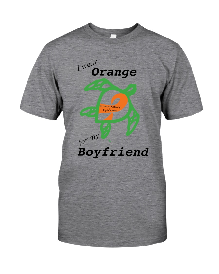 I wear Orange for my Boyfriend b Classic T-Shirt