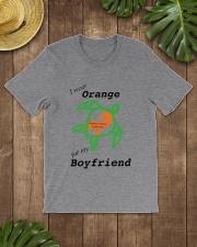 I wear Orange for my Boyfriend b Classic T-Shirt lifestyle-mens-crewneck-front-18