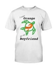 I wear Orange for my Boyfriend b Premium Fit Mens Tee thumbnail