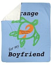 """I wear Orange for my Boyfriend b Sherpa Fleece Blanket - 50"""" x 60"""" thumbnail"""