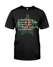 PCD Middle Finger Classic T-Shirt front
