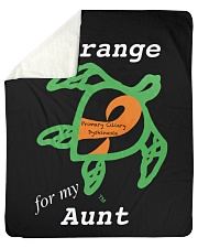 """I wear Orange for my Aunt Sherpa Fleece Blanket - 50"""" x 60"""" thumbnail"""