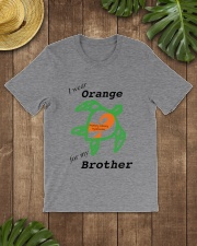 I wear Orange for my Brother b Classic T-Shirt lifestyle-mens-crewneck-front-18