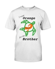 I wear Orange for my Brother b Premium Fit Mens Tee thumbnail