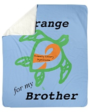 "I wear Orange for my Brother b Sherpa Fleece Blanket - 50"" x 60"" thumbnail"