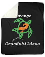 "I wear Orange for my Grandchildren Sherpa Fleece Blanket - 50"" x 60"" thumbnail"