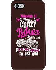 I Have a Crazy Biker Phone Case thumbnail