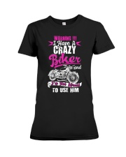 I Have a Crazy Biker Premium Fit Ladies Tee thumbnail