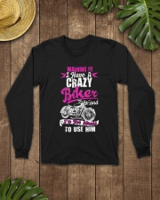 I Have a Crazy Biker Long Sleeve Tee lifestyle-unisex-longsleeve-front-7