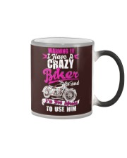 I Have a Crazy Biker Color Changing Mug thumbnail