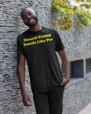 Donald Trump Smells Like Pee Classic T-Shirt apparel-classic-tshirt-lifestyle-front-33