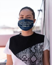 If All Lives Matter Put Your Damn Mask on Cloth face mask aos-face-mask-lifestyle-04