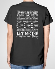 GUN OWNER'S PRAYER Ladies T-Shirt garment-tshirt-ladies-back-01