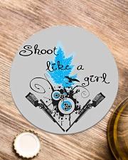 SHOOT LIKE A GIRL MUGS Circle Coaster aos-coaster-round-front-lifestyle-1