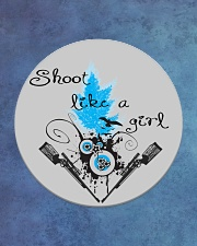 SHOOT LIKE A GIRL MUGS Circle Coaster aos-coaster-round-front-lifestyle-2