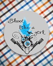 SHOOT LIKE A GIRL MUGS Circle Coaster aos-coaster-round-front-lifestyle-8