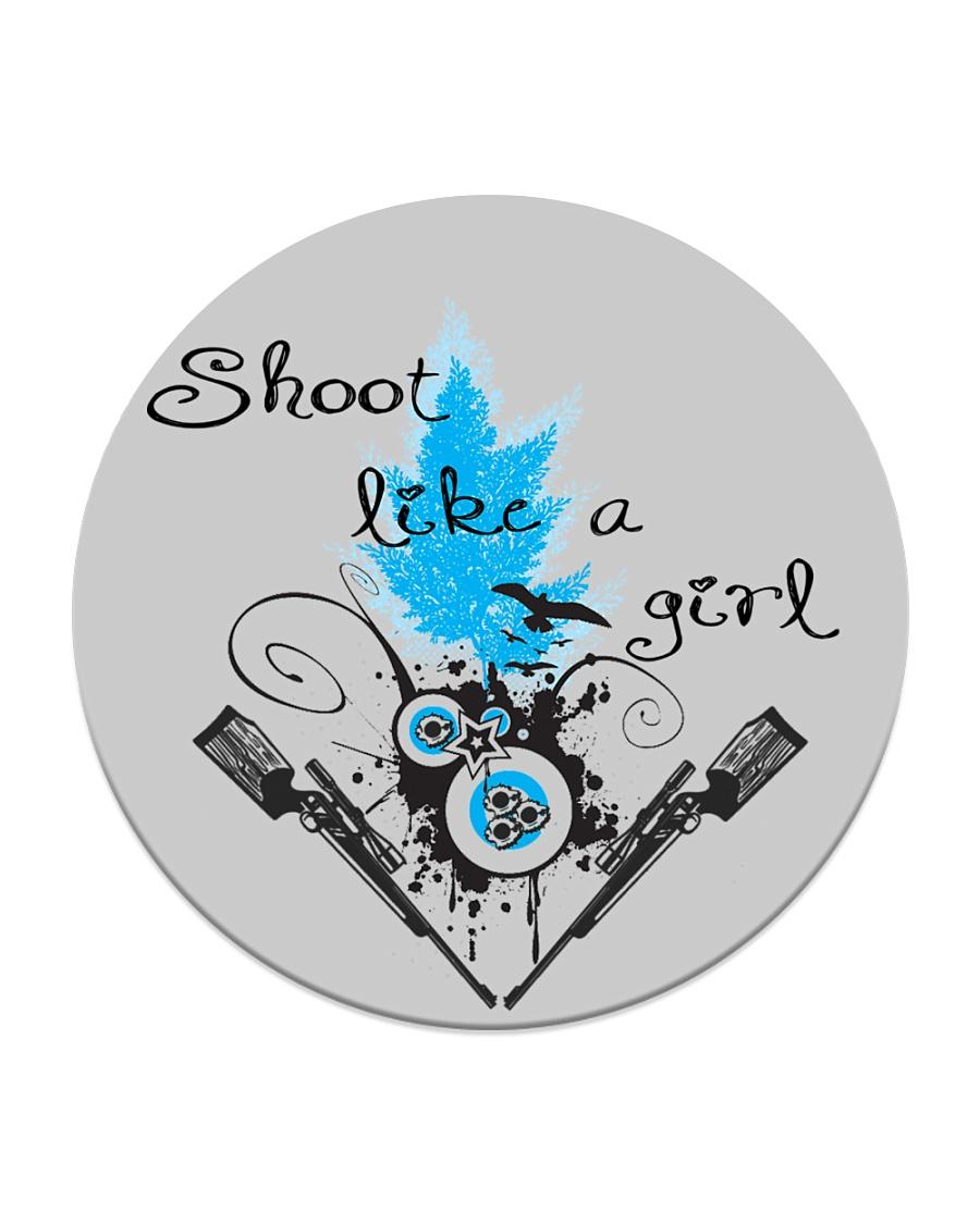 SHOOT LIKE A GIRL MUGS Circle Coaster