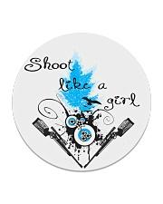 SHOOT LIKE A GIRL MUGS Circle Coaster thumbnail
