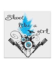 SHOOT LIKE A GIRL MUGS Square Coaster thumbnail