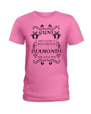 GUNS ARE A GIRL'S BEST FRIEND Ladies T-Shirt front