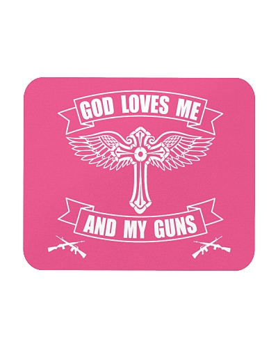 GOD LOVES ME AND MY GUNS ACCESSORIES