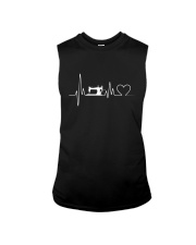 Sewing Heartbeat T-Shirts - Sewing T-Shirts Sleeveless Tee thumbnail