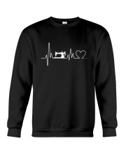 Sewing Heartbeat T-Shirts - Sewing T-Shirts Crewneck Sweatshirt thumbnail