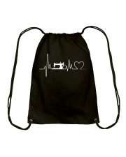 Sewing Heartbeat T-Shirts - Sewing T-Shirts Drawstring Bag thumbnail
