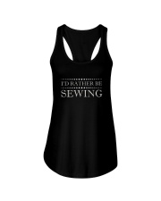 I'D Rather Be Sewing T-Shirt - Sewing T-Shirt Ladies Flowy Tank thumbnail