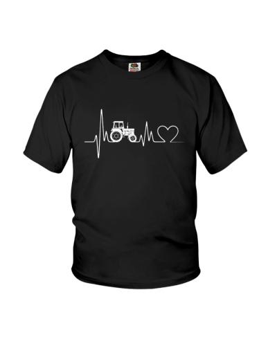 Tractor Heartbeat T-Shirts - Farmer T-Shirts
