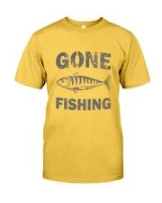 Gone Fishing Design Classic T-Shirt front