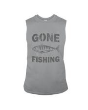 Gone Fishing Design Sleeveless Tee thumbnail