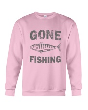 Gone Fishing Design Crewneck Sweatshirt thumbnail