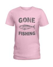 Gone Fishing Design Ladies T-Shirt thumbnail