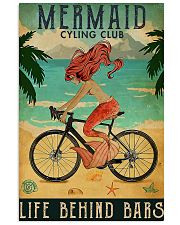 Mermaid cycling club 11x17 Poster front