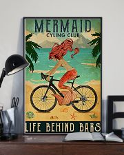 Mermaid cycling club 11x17 Poster lifestyle-poster-2