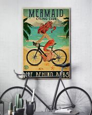 Mermaid cycling club 11x17 Poster lifestyle-poster-7