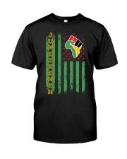 Juneteenth flag Classic T-Shirt front