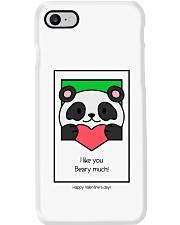 Cute bear giving his heart Phone Case thumbnail