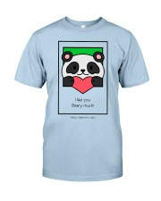 Cute bear giving his heart Classic T-Shirt thumbnail